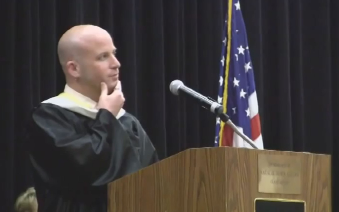 Greg Martin Gives Commencement Address at Linden Graduation