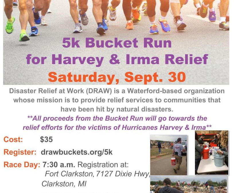 5K Bucket Run to Help Hurricane Victims